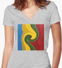 Rings Women's Fitted V-Neck T-Shirt