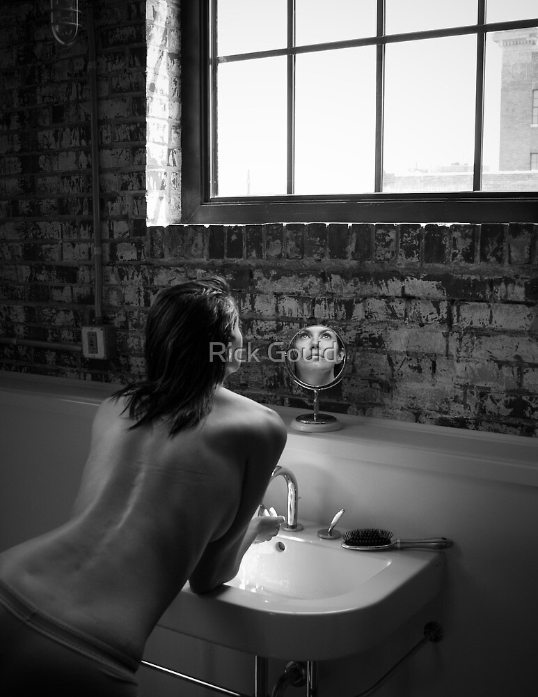 Bathroom Girl 3 by Rick Gould