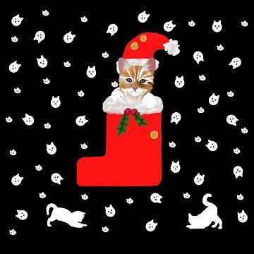 Kitten Christmas Sweater Pattern by Orikall