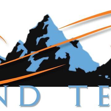 Grand Teton travel design by JenStedmansArt