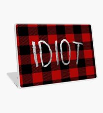 IDIOT (Red Flannel) Laptop Skin