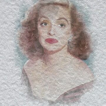 Bette Davis Watercolour by Kelly-Ferguson