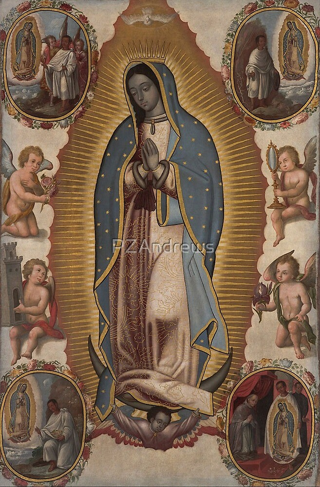Virgin of Guadalupe circa 1700s by PZAndrews