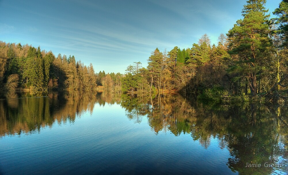 Tarn Hows Reflections by Jamie  Green