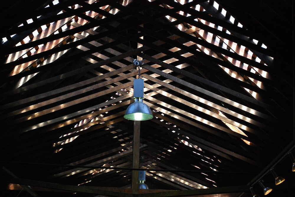 Roof Beams at Evandale Market  by Jenni Greene