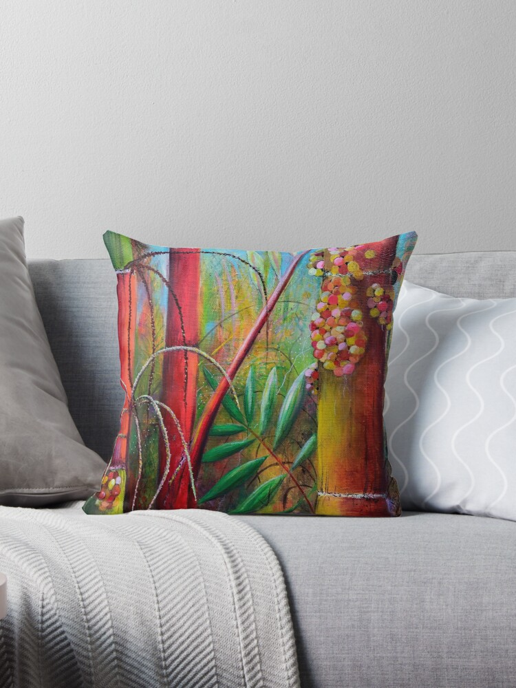 Quot Sri Lanka Bamboo Quot Throw Pillow By Lindachaves Redbubble