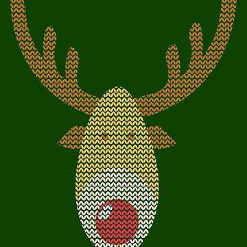 Rudolph The Reindeer Xmas Jumper  by RosinaSays