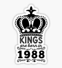 Birthday Boy Shirt - Kings Are Born In 1988 Sticker