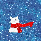 Snow Cat (white) by . VectorInk