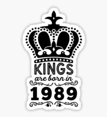 Birthday Boy Shirt - Kings Are Born In 1989 Sticker