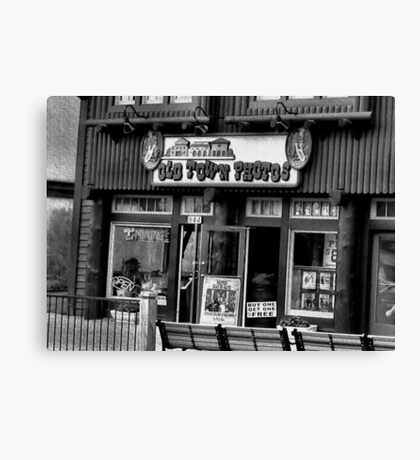 """Gatlinburg, Tennessee Series, #5, 'The Old Timey Photo Shop, 4th Picture'""... prints and products  Canvas Print"