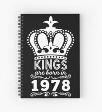 Birthday Boy Shirt - Kings Are Born In 1978 Spiral Notebook