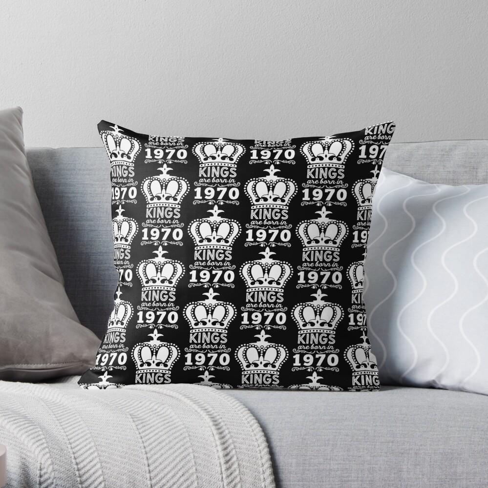 Birthday Boy Shirt - Kings Are Born In 1970 Throw Pillow
