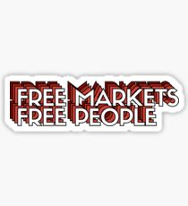 Pegatina FREE MARKETS FREE PEOPLE 2