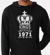 Birthday Boy Shirt - Kings Are Born In 1971 Lightweight Hoodie