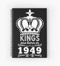 Birthday Boy Shirt - Kings Are Born In 1949 Spiral Notebook