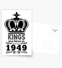 Birthday Boy Shirt - Kings Are Born In 1949 Postcards