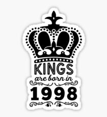 Birthday Boy Shirt - Kings Are Born In 1998 Sticker