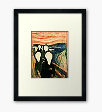 Wu Scream - www.art-customized.com Framed Print