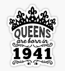 Birthday Girl Shirt - Queens Are Born In 1941 Sticker