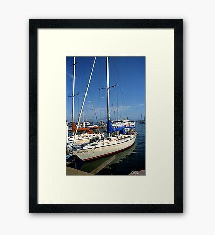 Docked in Ensenada Framed Print