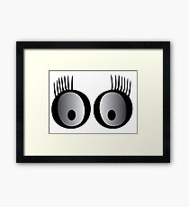 Kids eyes Framed Print