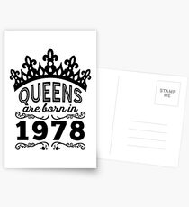 Birthday Girl Shirt - Queens Are Born In 1978 Postcards