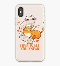 Cute Cats - Love is all you knead  iPhone Case