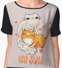 Cute Cats - Love is all you knead  Chiffon Top