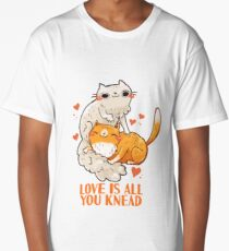 Cute Cats - Love is all you knead  Long T-Shirt