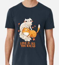 Cute Cats - Love is all you knead  Men's Premium T-Shirt