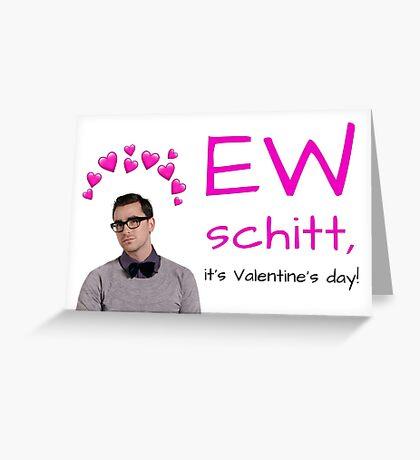 Schitt & # 39; s Creek, Ew David, tarjeta del día de San Valentín, regalos, regalos, paquetes de pegatinas, fresco, loco, cultura pop, geek, nerd, novio, novia Tarjeta de felicitación
