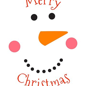 Merry Snowman Face by MMadson