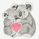 Koalas love hugs by lauragraves