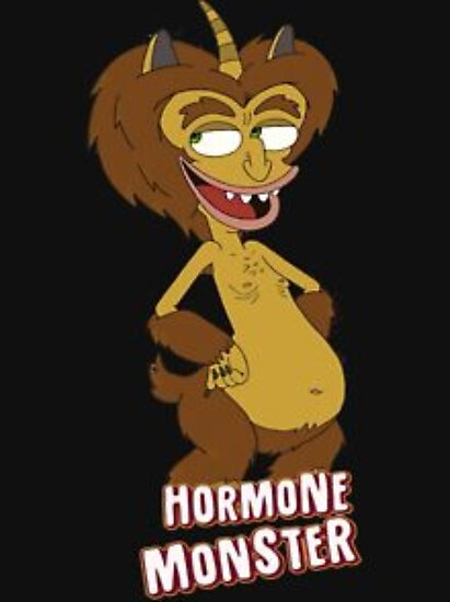Quot Big Mouth Hormone Monster Quot Poster By Borjaarcos Redbubble