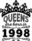 Birthday Girl Shirt - Queens Are Born In 1998 by wantneedlove