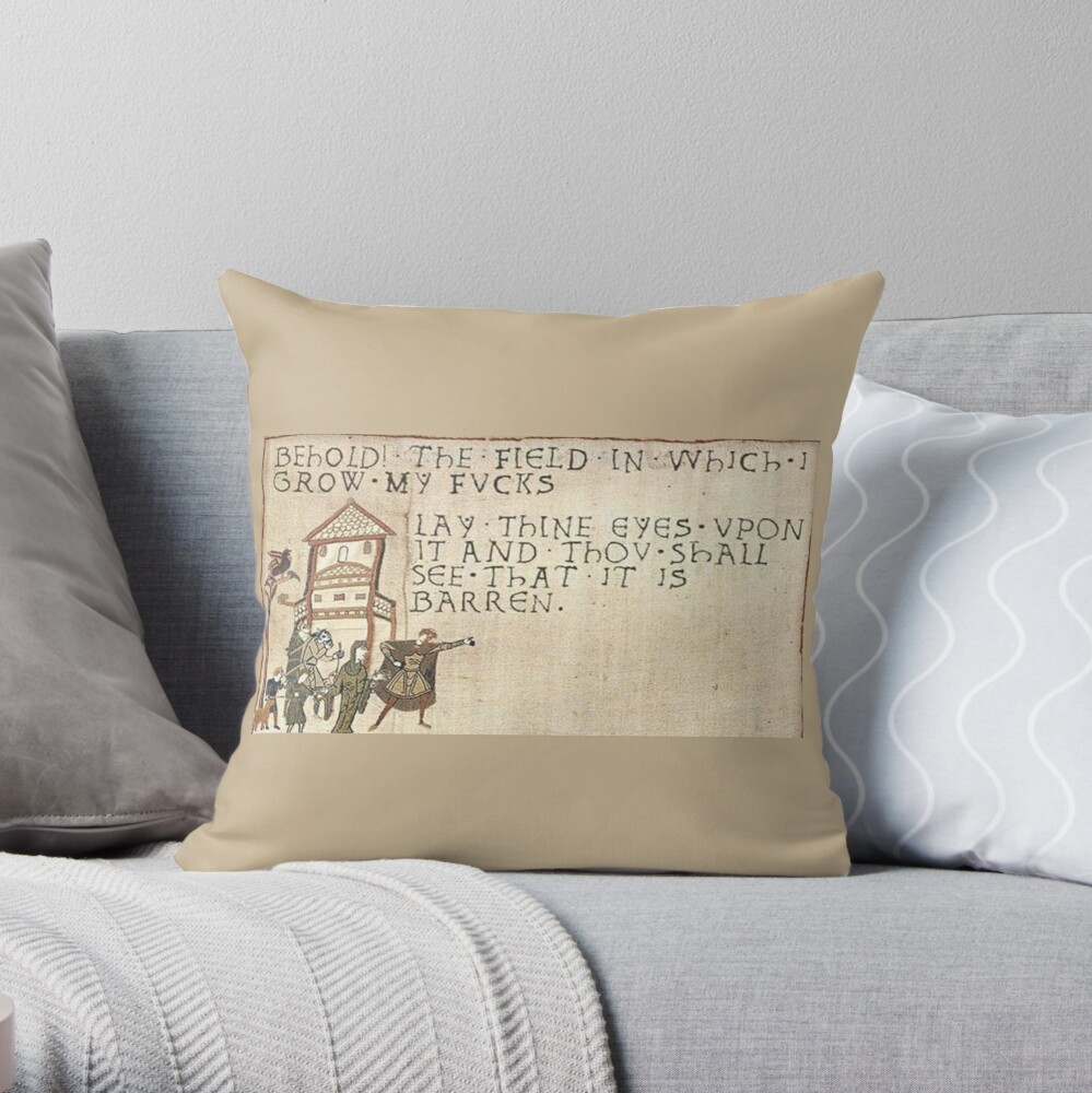 Behold The Field!  Throw Pillow