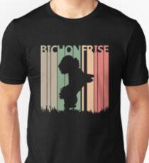 Bichon Frise Dog Silhouette Unisex T-Shirt