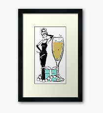 Glam Girl Framed Print
