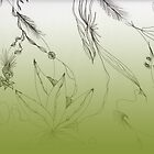 Green Floral Art - Gradient by plumecloth