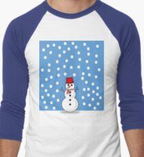the snowman  Men's Baseball ¾ T-Shirt