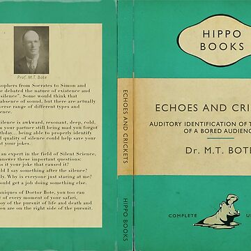 Echoes and Crickets by Dr. M.T. Bote (A blank Journal) by JungleCrews