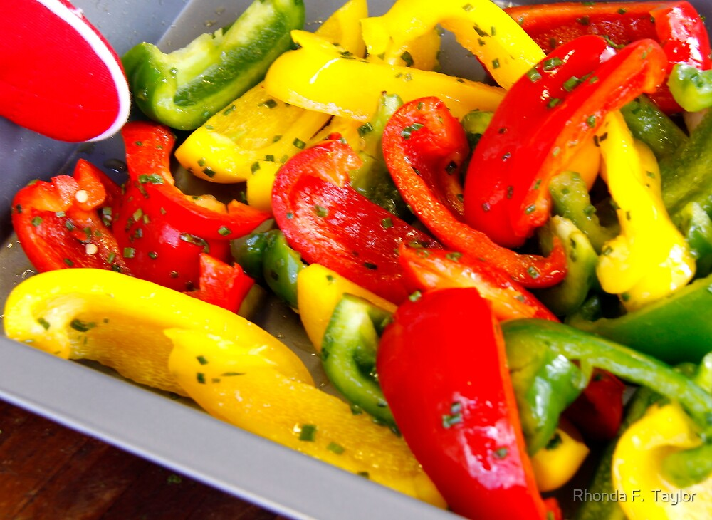Tasty Peppers by Rhonda F.  Taylor