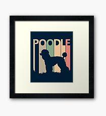 Poodle Dog Silhouette Framed Print