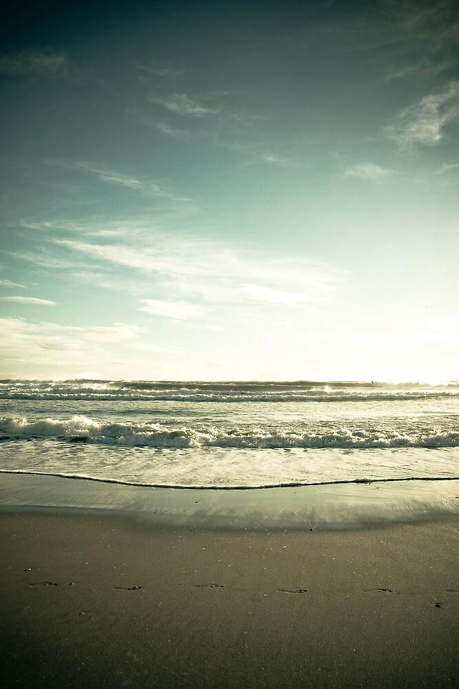 Waiting - Winter beach by Greta Kenyon