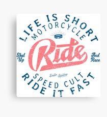 Motorcycle Speed Cult Leinwanddruck