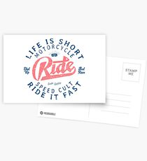 Motorcycle Speed Cult Postkarten