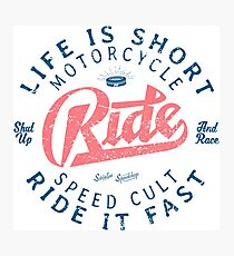 Motorcycle Speed Cult Fotodruck