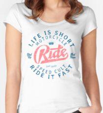Motorcycle Speed Cult Tailliertes Rundhals-Shirt
