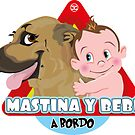 Baby and Mastiff - Dog On Board by DoggyGraphics